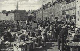 Fish Market.Gammel Strand Copenhagen.  Sent To Sweden 1954. Denmark. S-4548 - Markets