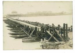 """Photo 90 X 128 Mm """" Pont Du Génie Sur Le Rhin, Militaires"""" Fin 1918 - Oorlog, Militair"""