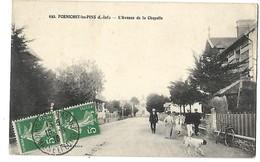 44 PORNICHET LES PINS AVENUE DE LA CHAPELLE 1916 CPA 2 SCANS - Pornichet