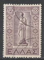 Greece 1947. Scott #514 (U) Statue Of Hippocrates * - Oblitérés