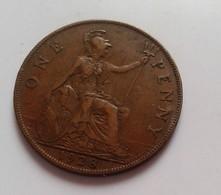 1 PENNY 1928 ONE GRANDE BRETAGNE (B4 - 05) - 1902-1971 : Monnaies Post-Victoriennes