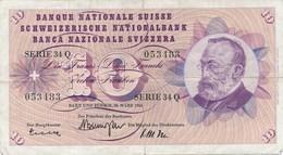 Billet  Banque Nationale Suisse 10 Francs 1963 - Suisse