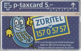 SWITZERLAND - PHONE CARD - °TAXCARD SUISSE  ***  ASSURANCES ZÜRITEL / 1 *** - Schweiz