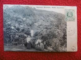 SEYCHELLES BAYONNE MOUNTAIN MAHE TIMBRE BRITISH COLONY CACHET COLOMBO WIEN - Seychelles