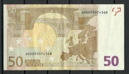 ESTONIA Estonie 50 EURO 2002 D-Serie Banknote RO51F4 - EURO
