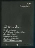 Runing. *VII Cursa De Bombers De Barcelona* Ed. Ajuntament. Impreso Flyer. Lote 2 Diferentes. - Postales