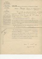 MINISTERE DES FINANCES 1909 - NOMINATION PAR ARRETE POSTE DE RECEVEUR  DE L'ENREGISTREMENT A  VILLEURBANNE - Décrets & Lois
