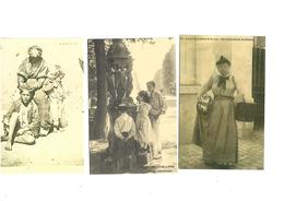 Carte Postale Petits Métiers Repro 3 Cartes Racommandeuse De Faience-les Buveurs 3cartes 1 Euro - Marchands Ambulants