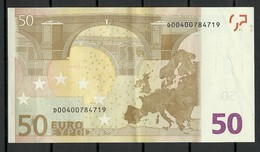 ESTONIA Estonie 50 EURO 2002 D-Serie Banknote RO51G1 - EURO