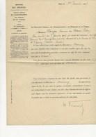 MINISTERE DES FINANCES 1909 - NOMINATION PAR ARRETE POSTE DE RECEVEUR  DE L'ENREGISTREMENT DE THONON -HTE SAVOIE - Décrets & Lois