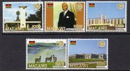 Malawi 2014 50th Anniversary Of Independence Set Of 5, MNH, SG 1102/6 (BA2) - Malawi (1964-...)