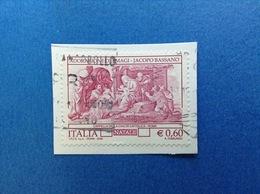 2006 ITALIA FRANCOBOLLO USATO STAMP USED - NATALE ADORAZIONE DEI MAGI € 0,60 - 6. 1946-.. Repubblica