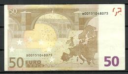 ESTONIA Estonie 50 EURO 2002 D-Serie Banknote RO51B2 - EURO