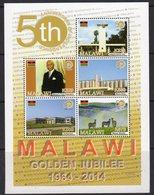 Malawi 2014 50th Anniversary Of Independence MS, MNH, SG 1107 (BA2) - Malawi (1964-...)