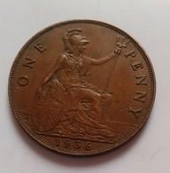 GRANDE-BRETAGNE - ONE PENNY 1936  (B4 - 06) - 1902-1971 : Monnaies Post-Victoriennes
