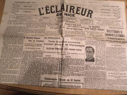 JOURNAL L'ECLAIREUR  DE NICE MERCREDI 12 JANVIER 1916 - 1914-18