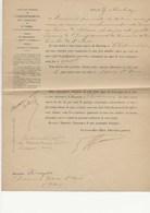 DIRECTION GENERALE DE L'ENREGISTREMENT DES DOMAINES ET DU TIMBRE -NOMINATION DU POSTE DE RECEVEUR A CHATEAUROUX 1897 - Décrets & Lois
