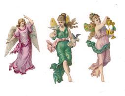 3 DECOUPIS FEMMES AILES D'ANGES - - Anges