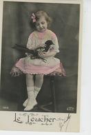 """ENFANTS - LITTLE GIRL - LES CINQ SENS - """"LE TOUCHER """" - Fillette Avec Oiseau PIE - Portraits"""