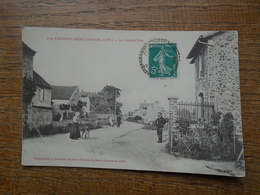 "Carte Assez Rare , Changis-saint-jean , La Grande Rue """" Carte Animée """" - Other Municipalities"