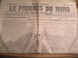 JOURNAL LE PROGRES DU NORD ET DU PAS- DE- CALAIS  MARDI 12 MAI 1914 - 1914-18