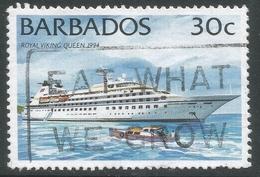 Barbados. 1994 Ships. 30c Used. No Date Imprint. SG 1078 - Barbades (1966-...)