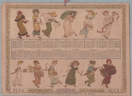 CALENDRIER 1884  De KATE GREENAWAY . HACHETTE Et CIE Offert Par Le JOURNAL DE LA JEUNESSE à Ses Abonnés.RARE - Calendriers