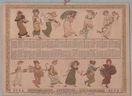 CALENDRIER 1884  De KATE GREENAWAY . HACHETTE Et CIE Offert Par Le JOURNAL DE LA JEUNESSE à Ses Abonnés.RARE - Calendari