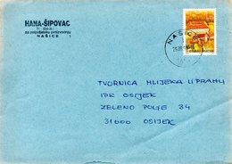CROATIE. N°318 De 1995 Sur Enveloppe Ayant Circulé. Cakovec. - Croatia