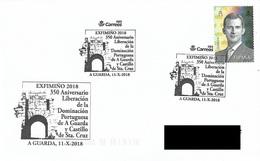 SPAIN. POSTMARK 350th ANNIV. LIBERATION OF THE PORTUGUESE DOMINATION OF A GUARDA AND CASTLE OF SANTA CRUZ. 2018 - Marcofilia - EMA ( Maquina De Huellas A Franquear)