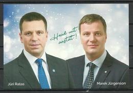 ESTLAND 2018 Politische Wahlpropaganda Political Propaganda Happy New Year Post Card - Estonie