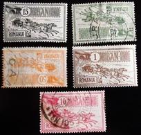 1903  Roumanie 5 Valeurs 2nd Anniv Of Bucuresti New Post Office . Oblitérés Et 2 Neufs Traces Charnières - 1881-1918: Carol I