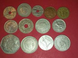 13 ANCIENNES MONNAIES DIVERSE MONDE à Identifier Voir Photos - Coins
