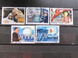 *ITALIA* LOTTO 5 USATI 2002 - NATALE MOROSINI CIRCO ESCRIVA POLIZIA - 6. 1946-.. Repubblica