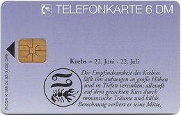 Germany - Horoskop Zodiac Krebs - Cancer - K 0188 - 04.93, 6DM, 3.000ex, Used - K-Series : Série Clients