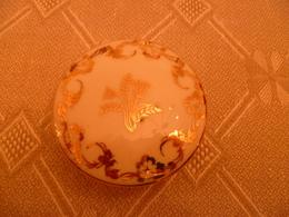 Bonbonnière Porcelaine De Limoge , Motif  Floral Doré - Vaisselle, Verres & Couverts