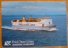Norway Fähre? M.F. Borgen Der Fred Olsen Lines - Skagerak Expressen - Fähren
