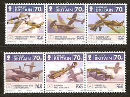 Île De Man 2010 Yvertn° 1630-1635 *** MNH   Cote 16,80 Euro 70e Anniversaire De La Bataille D' Angleterre - Man (Ile De)