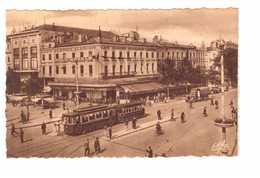 Tram Tramway Toulouse Carrefour Jean Jaures Theatre Des Variétés Café Glacier Albrighi - Tram