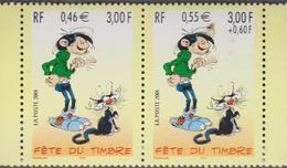 FRANCE 1 T Journée Du Timbre 2001 Gaston Lagaffe - Paire 3371A - Neufs