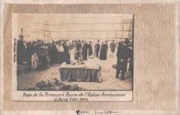 Arménie / 01 - Pose De La Première Pierre De L'église Arménienne à Paris - Cliché Très Rare - Cartes Postales