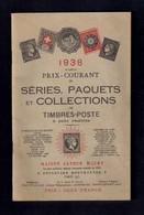 Catalogue De Timbres-poste 1938.  Maison Arthur Maury à Paris - Catalogues For Auction Houses