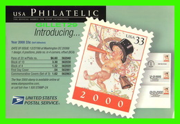 LA POSTE - UNITED STATES POSTAL SERVICES - NEW SPECIAL POSTAGE STAMP FOR THE YEAR 2000 - - Poste & Facteurs