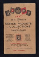 Catalogue De Timbres-poste 1937.  Maison Arthur Maury à Paris - Catalogues For Auction Houses