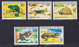 MALI N°  252 à 256 ** MNH Neufs Sans Charnière, TB (D8128) Faune, Animaux, Reptiles - 1976 - Mali (1959-...)