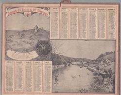 """Calendrier 1905 - ALMANACH DES POSTES ET TÉLÉGRAPHES - OBERTHUR """" CHASSE A COURRE"""" - Calendriers"""