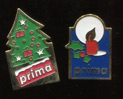 2 Pin's - PRIMA Noël Bougie Sapin - Christmas