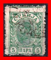 SERBIA SELLO AÑO 1915 King Milan - Serbia