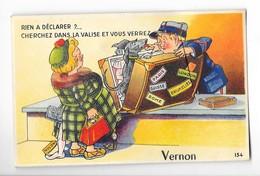 VERNON (27) Carte à Système Dépliant Douanier - Vernon