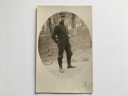 AK Photo Kriegsgefangene Prisonnier De Guerre Francais Foto Lichius Schiessplatz Gefangenlager Wahn Gepruft Uniform - Weltkrieg 1914-18